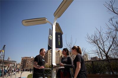 Проект за улично соларно захранване в Ню Йорк